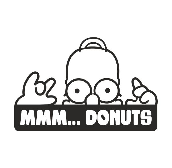 Homer Donuts Aufkleber