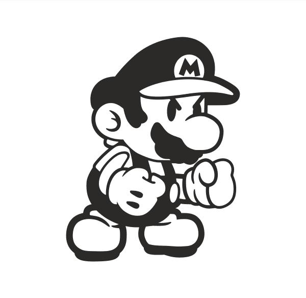 Mario Aufkleber