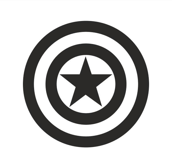 Captain America Aufkleber