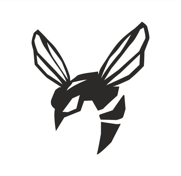 Wespe Green Hornet Aufkleber