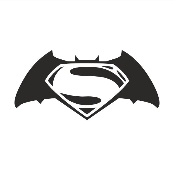 Batman vs Superman Aufkleber