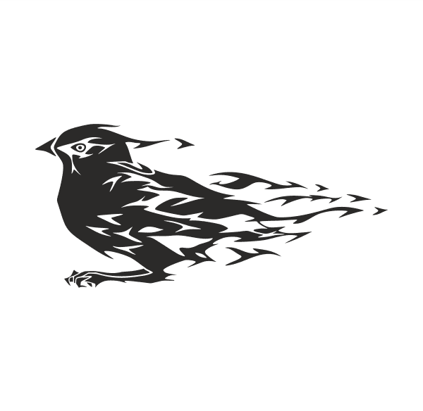 Vogel Aufkleber