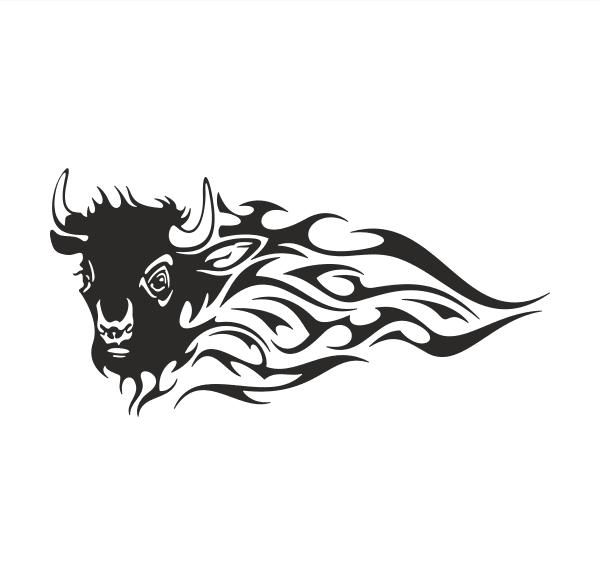 Büffel Aufkleber