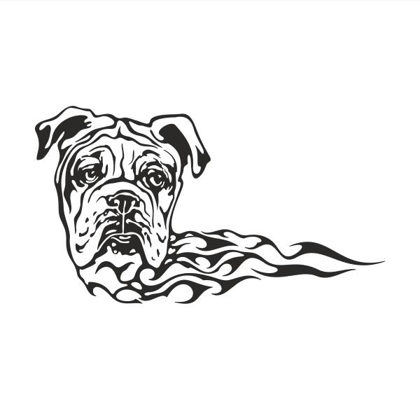 Hund Aufkleber