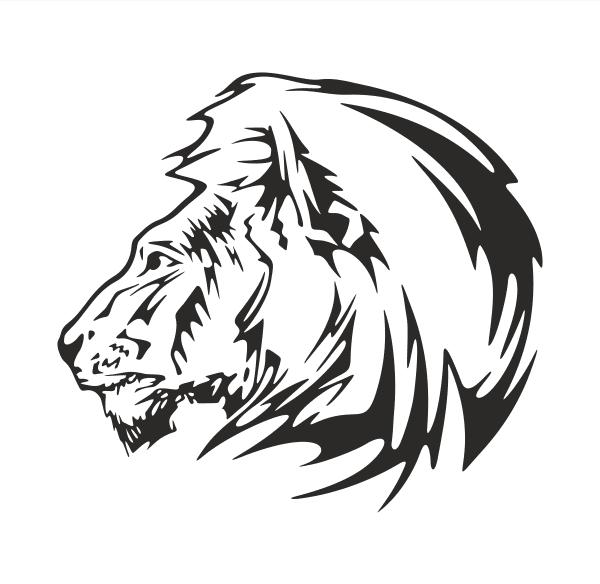 Löwe Aufkleber