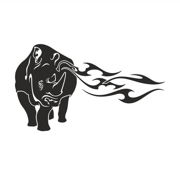 Nashorn Aufkleber