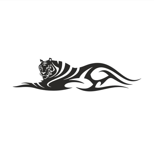 Tiger Aufkleber