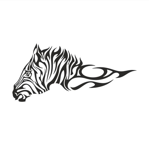 Zebra Aufkleber