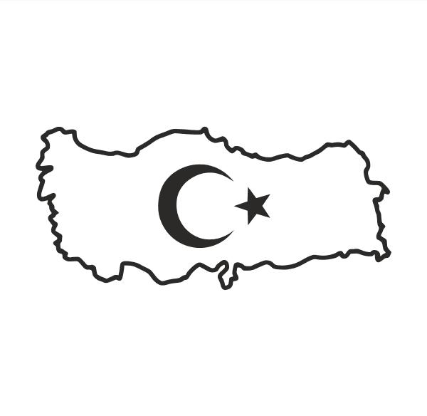 Türkei Aufkleber