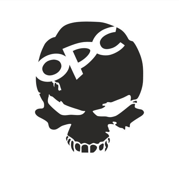 OPC Head Aufkleber