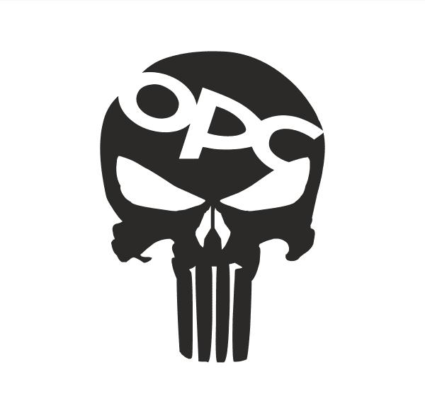 OPC Skull Aufkleber