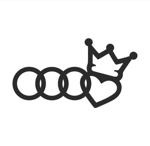 Love Audi Aufkleber