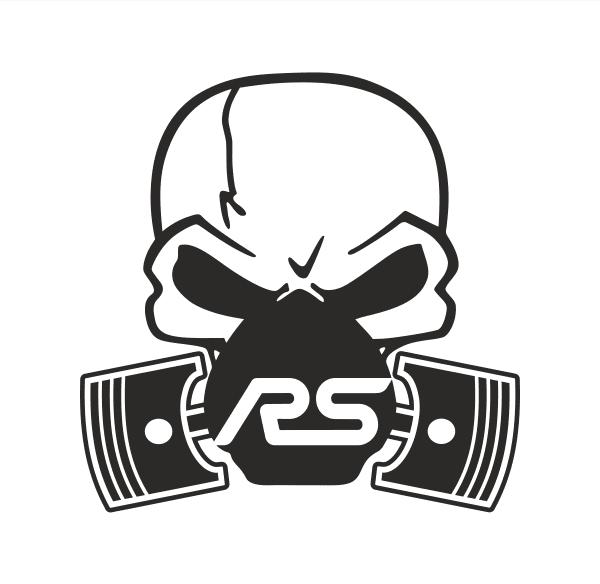 Ford RS Skull Piston Aufkleber
