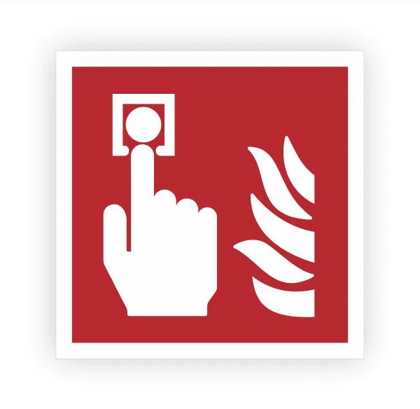 Brandmelder Aufkleber