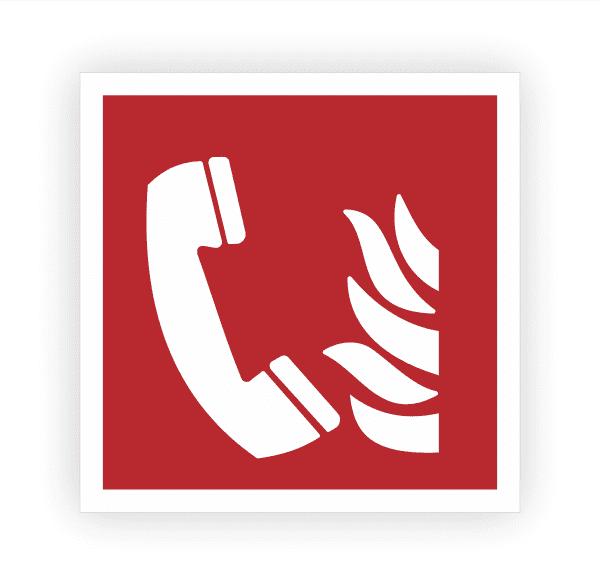 Brandmeldetelefon Aufkleber