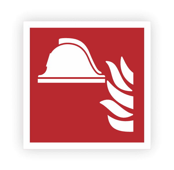 Mittel und Geräte zur Brandbekämpfung Aufkleber
