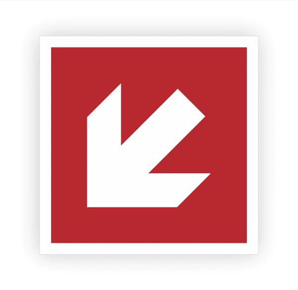 Richtungsangabe links unten Aufkleber