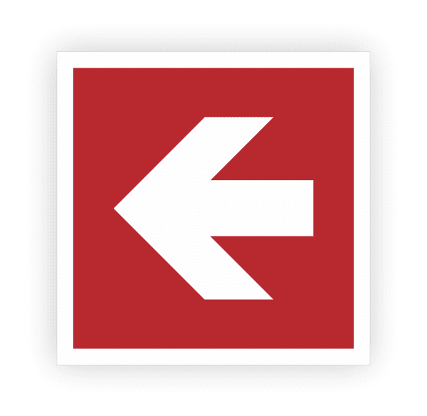 Richtungsangabe links Aufkleber