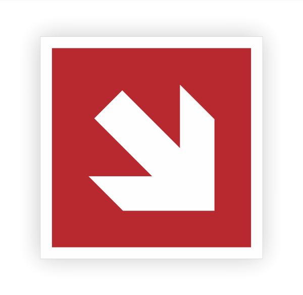 Richtungsangabe rechts unten Aufkleber