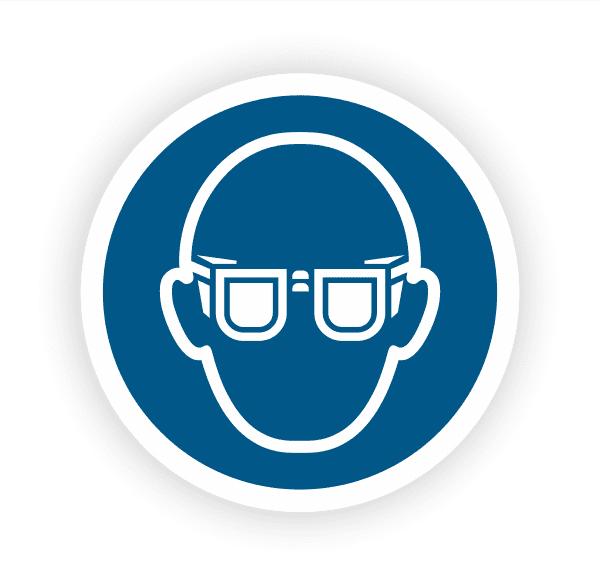 Augenschutz benutzen Aufkleber
