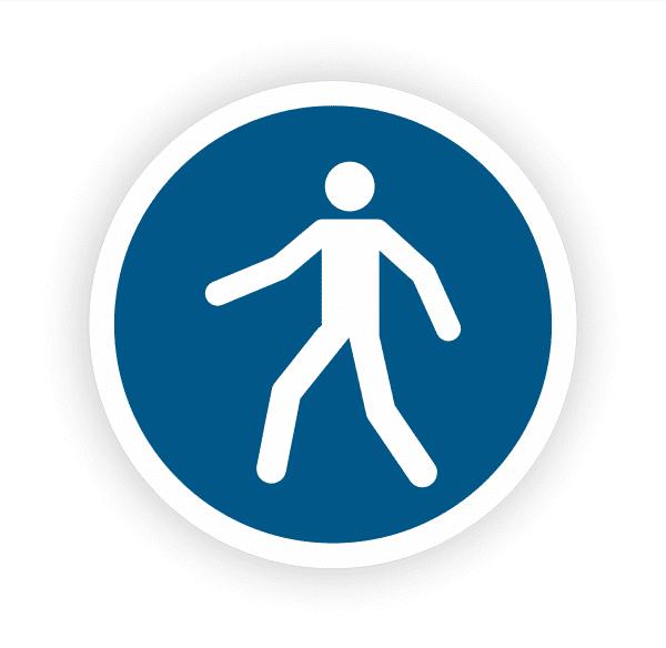 Fussgängerweg benutzen Aufkleber