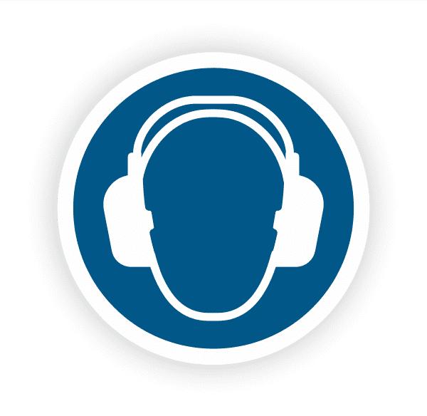 Gehörschutz benutzen Aufkleber