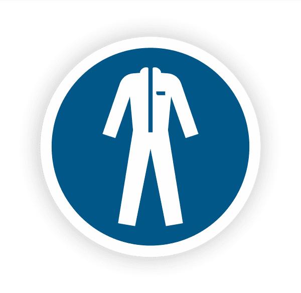 Schutzkleidung benutzen Aufkleber