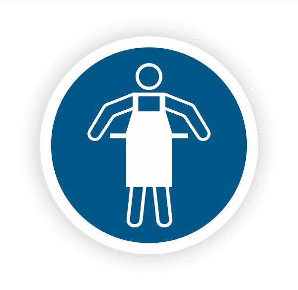 Schutzschürze benutzen Aufkleber