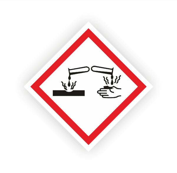 Ätzwirkung (GHS05) | Gefahrsymbol Aufkleber