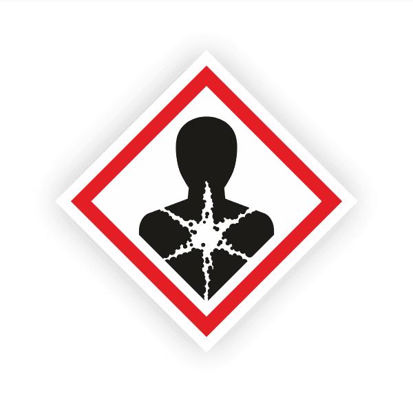 Gesundheitsgefahr (GHS08) | Gefahrsymbol Aufkleber