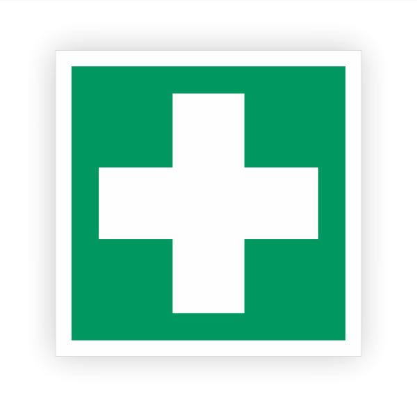 Erste Hilfe Aufkleber | Rettungszeichen