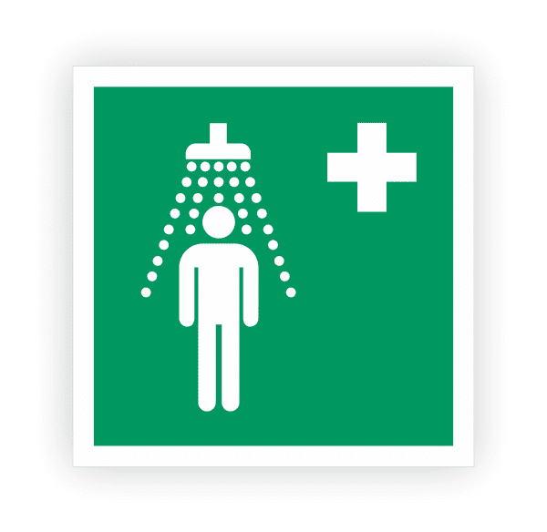 Notdusche Aufkleber | Rettungszeichen