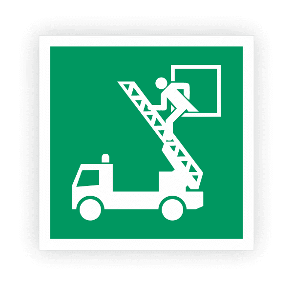 Rettungsausstieg Aufkleber | Rettungszeichen