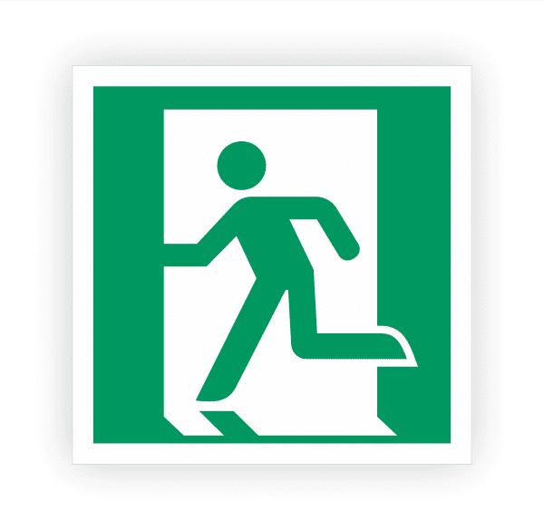 Rettungsweg Notausgang links Aufkleber | Rettungszeichen