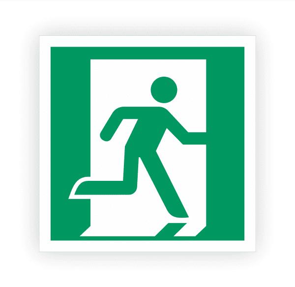 Rettungsweg Notausgang rechts Aufkleber | Rettungszeichen
