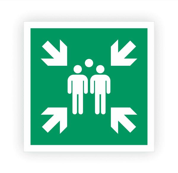 Sammelstelle Aufkleber | Rettungszeichen
