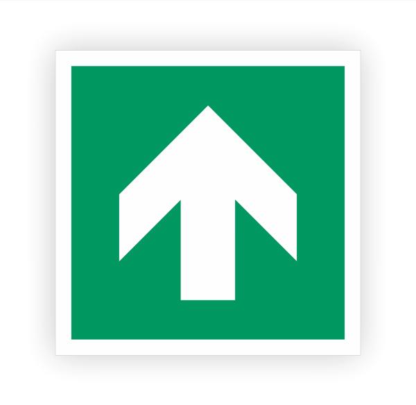 Zusatzzeichen Pfeil oben Aufkleber | Rettungszeichen