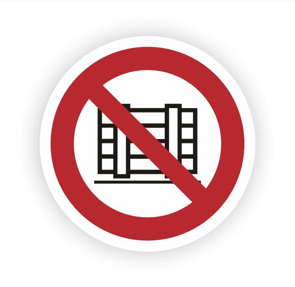 Abstellen oder Lagern verboten Aufkleber