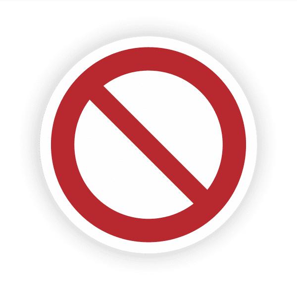 Allgemeines Verbotszeichen Aufkleber