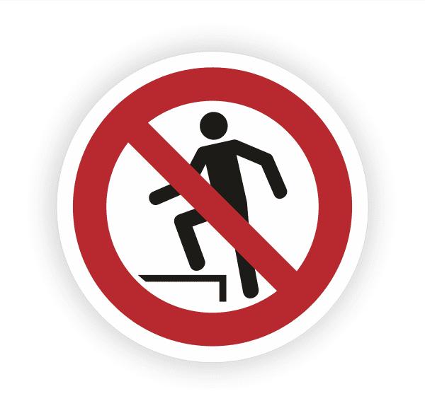 Aufsteigen verboten Aufkleber