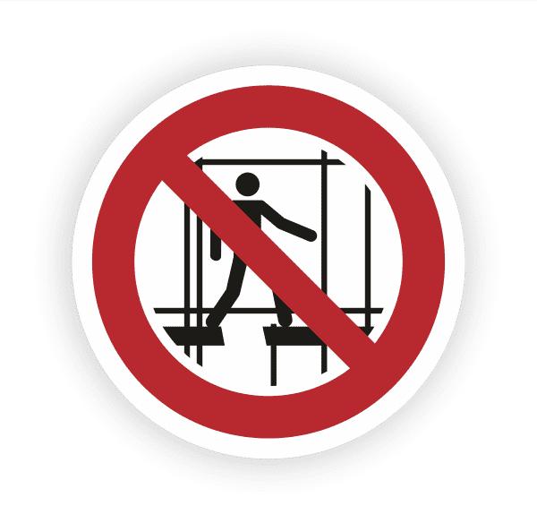 Benutzen des unvollständigen Gerüstes verboten Aufkleber