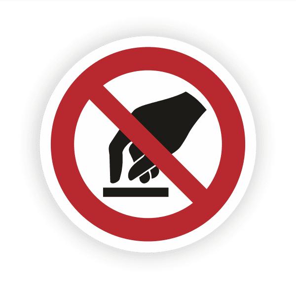 Berühren verboten Aufkleber