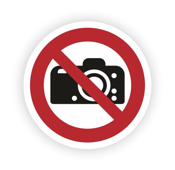 Fotografieren verboten Aufkleber