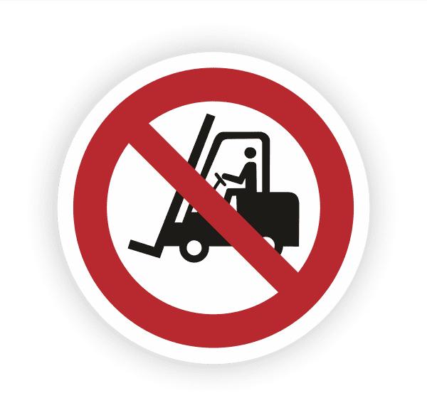 Für Flurförderzeuge verboten Aufkleber