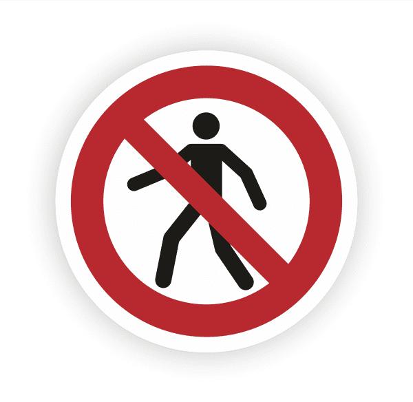 Für Fussgänger verboten Aufkleber