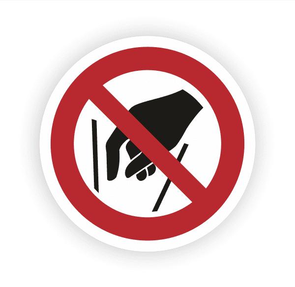 Hineinfassen verboten Aufkleber