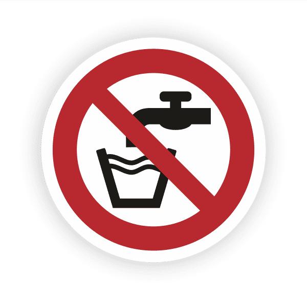 Kein Trinkwasser Aufkleber