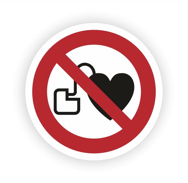 Kein Zutritt mit Herzschrittmachern Aufkleber