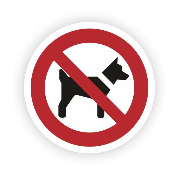Mitführen von Hunden verboten Aufkleber