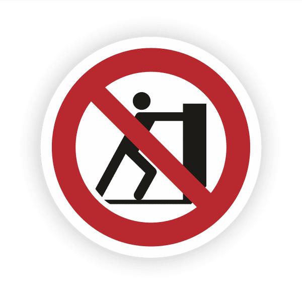 Schieben verboten Aufkleber